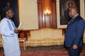 L'Ambassadeur Saïdou ZONGO présente ses Lettres de créance à S.E.M. Ali Bongo ONDIMBA