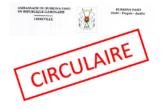 Note Circulaire/COVID-19 : Respect des mesures préventives et consignes d'hygiène