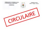 Note circulaire du 09 avril 2019