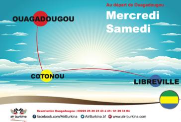 Air Burkina/ Reprise des dessertes de Libreville