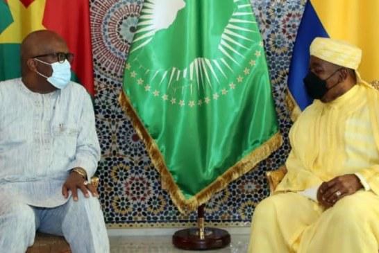COOPÉRATION BURKINA FASO-GABON : SÉANCE DE TRAVAIL ENTRE LES DEUX CHEFS D'ETAT